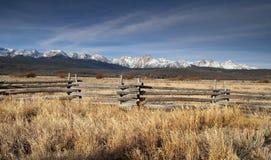 För Sun Valley Idaho för ranchområdestaket bergskedja Sawtooth Royaltyfria Foton