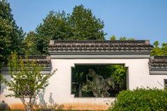För Suzhou för scenisk fläck för Suzhou Lingshan jätte- Buddha arkitektur trädgård Royaltyfria Bilder