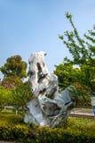 För Suzhou för scenisk fläck för Suzhou Lingshan jätte- Buddha arkitektur trädgård Royaltyfri Bild