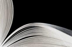 for för svart bok för bakgrund öppnad makro Royaltyfria Bilder