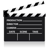 För svart tavlafilmen för vektorn direktören kritiserar Royaltyfri Foto