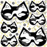 För svartpinto för grå vit disgu för parti för maskering för katt djur Arkivfoto