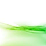 För swooshvåg för ekologi modern grön gräns Arkivbilder