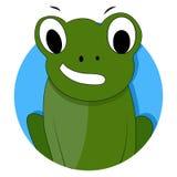 För symbolsapp för grön groda vektor Royaltyfri Foto