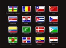 för symbolsdel för 3 flagga set royaltyfri illustrationer