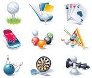för symbolsdel för 35 tecknad film vektor för stil för sport set Royaltyfri Bild