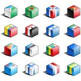 för symbolsdel för 4 flagga set royaltyfri illustrationer