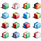 för symbolsdel för 5 flagga set vektor illustrationer