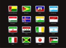 för symbolsdel för 5 flagga set royaltyfri illustrationer