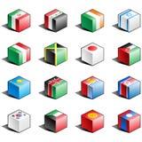 för symbolsdel för 6 flagga set royaltyfri illustrationer