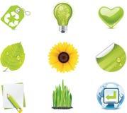 för symbolsdel för ekologi 4 set vektor