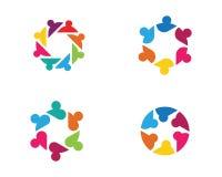 För symbolsdesign för gemenskap social mall stock illustrationer