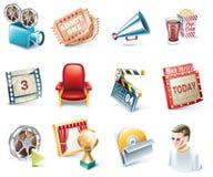 för symbolsfilm för 32 tecknad film vektor för stil för del set Royaltyfria Foton
