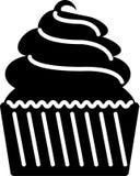 För symbolsillustration för muffin fast färg för plan vektor Stock Illustrationer