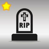 För symbolsknapp för grav svart begrepp för symbol för logo Arkivbild