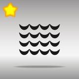 För symbolsknapp för våg högkvalitativt svart begrepp för symbol för logo Fotografering för Bildbyråer