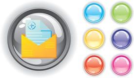 för symbolsläkarundersökning för knappar färgrik set Arkivfoton