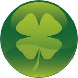 för symbolsleaf för växt av släkten Trifolium fyra shamrock royaltyfri illustrationer