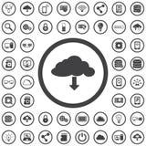 för symbolsmodell för oklarhet 3d white stock illustrationer