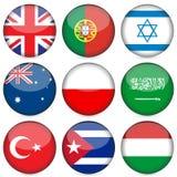 för symbolsnational för 4 flagga set Royaltyfri Foto