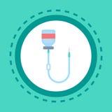 För symbolsonline-konsultation för medicinsk utrustning service för sjukhus för kliniker för hälsovård för begrepp för knapp stock illustrationer