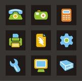 för symbolssymboler för färg allmän serie Arkivbild