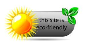 för symbolsvektor för eco vänlig website Fotografering för Bildbyråer