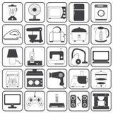 För symbolsvektor för hem- anordning uppsättning Arkivfoto