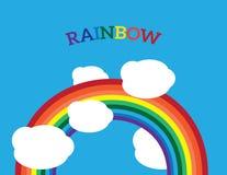 För symbolsvektor för regnbåge idérik illustration för design Royaltyfria Foton