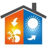 För symbolsymbol för luft betingande logo royaltyfri illustrationer