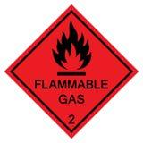 För symboltecken för brännbar gas isolat på vit bakgrund, vektorillustration EPS 10 royaltyfri illustrationer