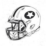 För t-skjorta för amerikansk fotboll design etikett Arkivbild