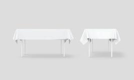 För tabelltorkduk för bank vit för åtlöje uppsättning upp, snabb bana Royaltyfria Bilder