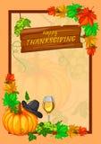 För tacksägelsedag för tacksägelsefest lycklig beröm för ferie stock illustrationer
