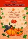 För tacksägelsedag för tacksägelsefest lycklig beröm för ferie royaltyfri illustrationer