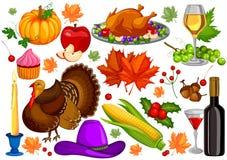 För tacksägelsedag för tacksägelsefest lycklig beröm för ferie vektor illustrationer