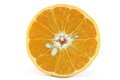 För tangerinmandarine för mogen mandarin citrus apelsin på vit bakgrund Fotografering för Bildbyråer