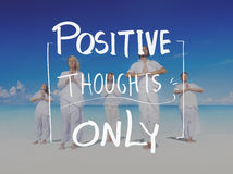 För tankemening för livsstil positivt begrepp för liv royaltyfri bild