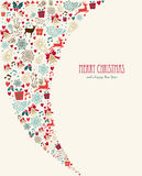 För tappningbeståndsdelar för glad jul sammansättning Royaltyfri Bild