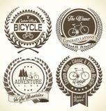För tappningemblem för cykel retro samling Royaltyfria Bilder