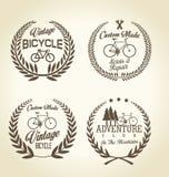 För tappningemblem för cykel retro samling Fotografering för Bildbyråer