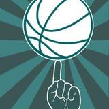 För tappninggrunge för basket typografisk affisch för stil Arkivfoto