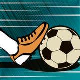 För tappninggrunge för fotboll typografisk affisch för stil Retro vektor I Arkivfoto