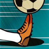 För tappninggrunge för fotboll typografisk affisch för stil Retro vektor I Arkivfoton