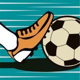För tappninggrunge för fotboll typografisk affisch för stil Retro vektor I Fotografering för Bildbyråer