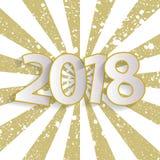 För tappninghälsning för lyckligt nytt år begrepp 2018 för kort med papper cuted vitnummer Royaltyfria Foton