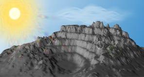 För tappningstil för berg låg poly bakgrund royaltyfri illustrationer