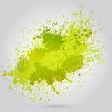 För tappningvattenfärg för vektor grön textur med fläckar Royaltyfri Foto