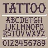 För tatueringvektor för gammal skola hand dragen stilsort royaltyfri illustrationer