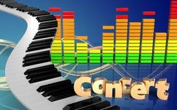 för teckenkonsert för konsert 3d tecken Fotografering för Bildbyråer